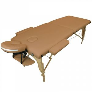 Table de massage bois - 2 Zones - Marron clair