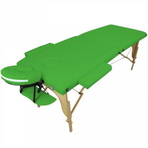 Table de massage bois - 2 Zones - Vert