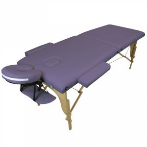 Table de massage bois - 2 Zones - Violet