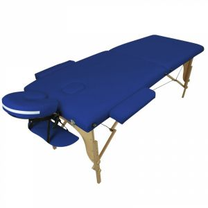Table de massage bois - 2 Zones - Bleu azur