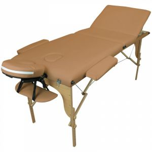 Table de massage bois - 3 Zones - Marron clair