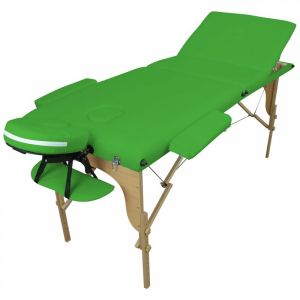 Table de massage bois - 3 Zones - Vert
