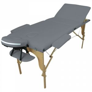 Table de massage bois - 3 Zones - Gris