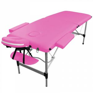 Table de massage aluminium - 2 Zones - Rose