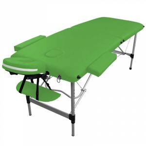 Table de massage aluminium - 2 Zones - Vert
