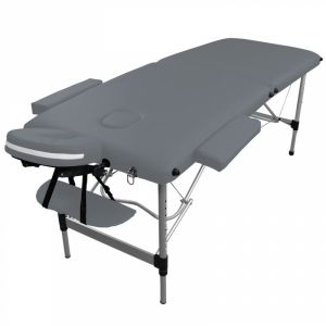 Table de massage aluminium - 2 Zones - Gris
