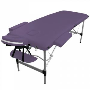 Table de massage aluminium - 2 Zones - Violet