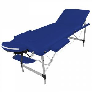 Table de massage aluminium - 3 Zones - Bleu azur