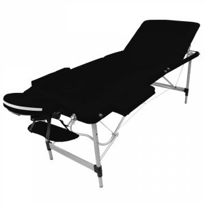 Table de massage aluminium - 3 Zones - Noir
