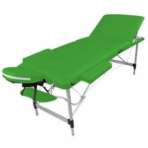 Table de massage aluminium - 3 Zones - Vert