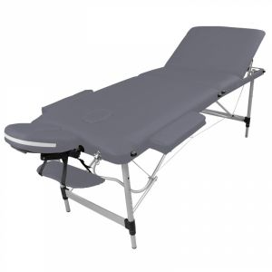 Table de massage aluminium - 3 Zones - Gris