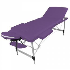 Table de massage aluminium - 3 Zones - Violet