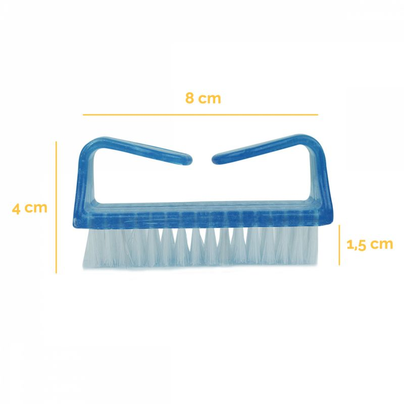 Lot de 5 brosses à ongles - Bleu