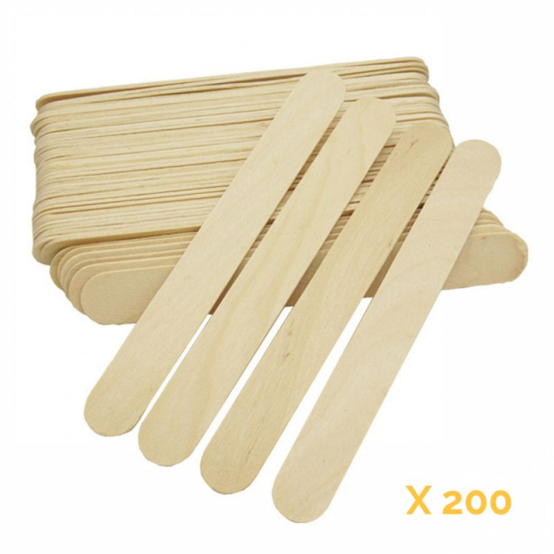 Lot de 200 spatules jetables