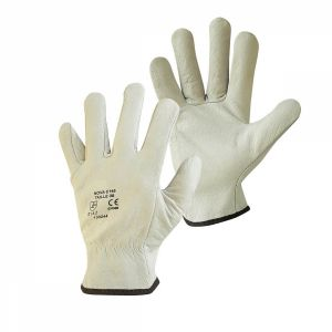 Gants pro cuir - Taille 7 - S - Blanc